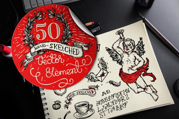 HandSketched Elements Logos