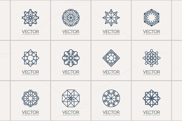 12 Geometric Logo Templates