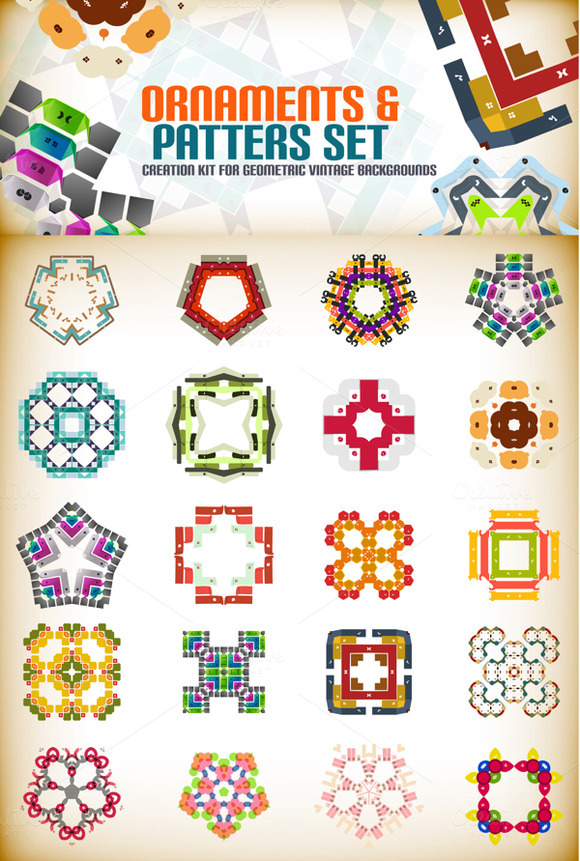 Ornaments And Patterns Set 3