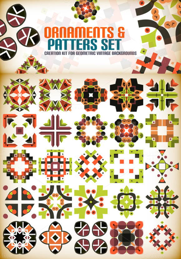 Ornaments And Patterns Set 10