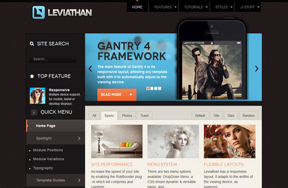 RT Leviathan Joomla Template