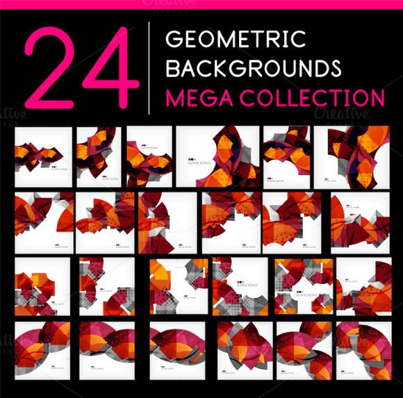 24 Geometric Backgrounds Set 1