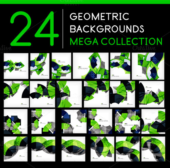 24 Geometric Backgrounds Set 2