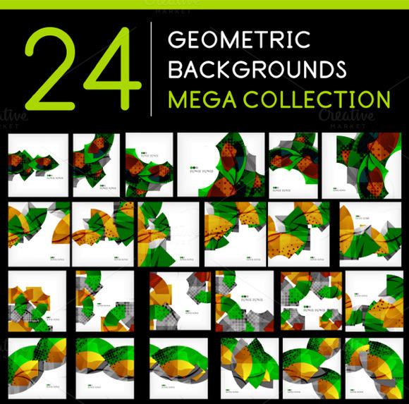 24 Geometric Backgrounds Set 4
