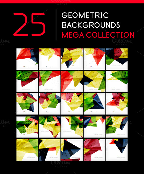 25 Abstract Geometric Backgrounds 9