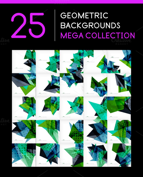 25 Abstract Geometric Backgrounds 11