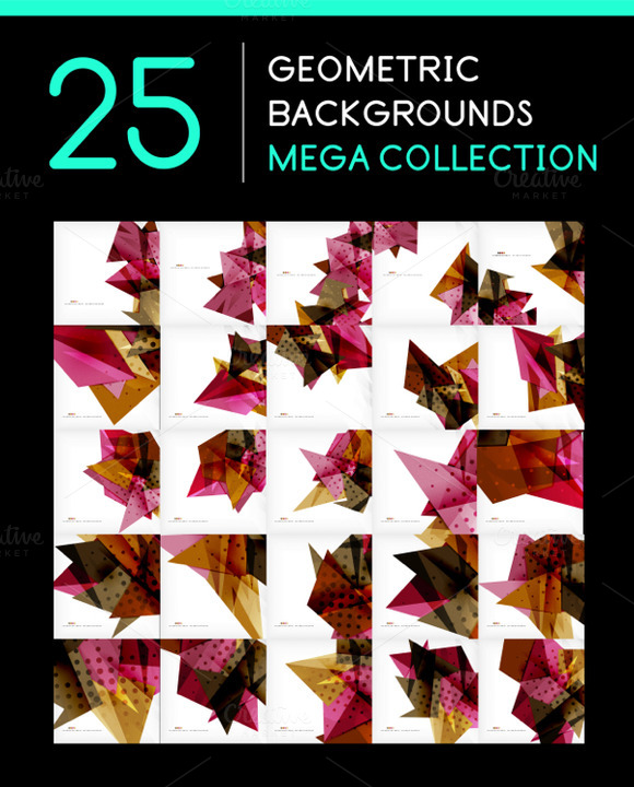 25 Abstract Geometric Backgrounds 12