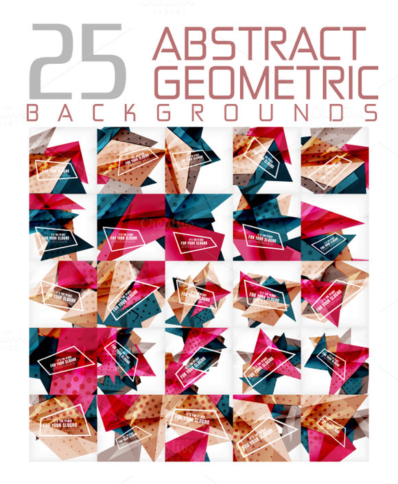25 Abstract Geometric Backgrounds 13