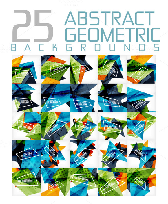 25 Abstract Geometric Backgrounds 14