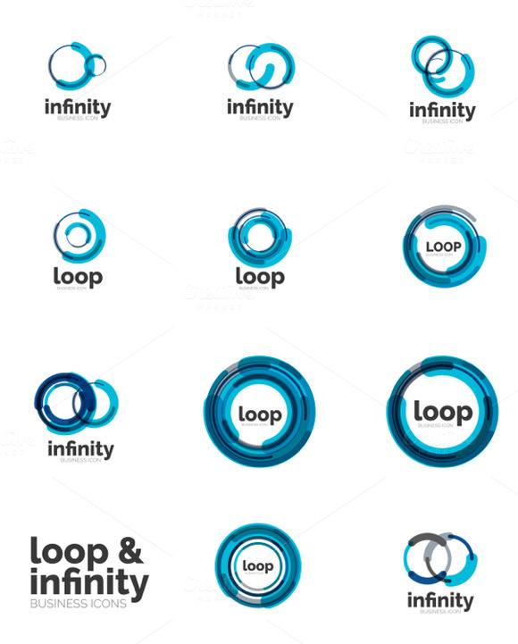 Infinity Loop Icons Set 3