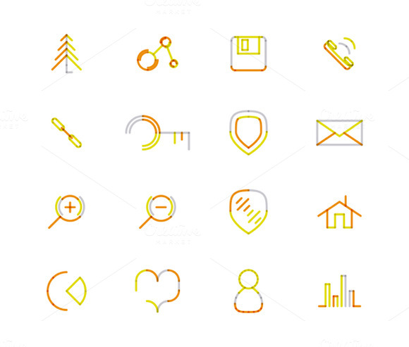 16 Thin Web Icons Set 15