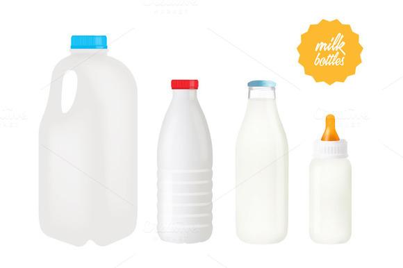 Vector Milk Bottles