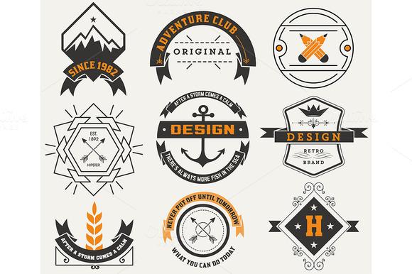 Logotypes Set Vintage Insignias