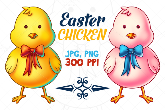 Easter Chicken Cartoon Character