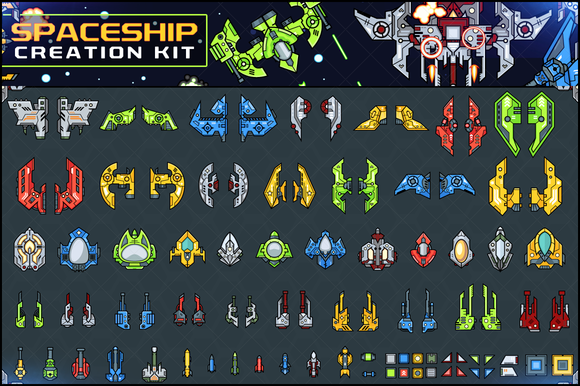 Spaceship Creation Kit Game Assets