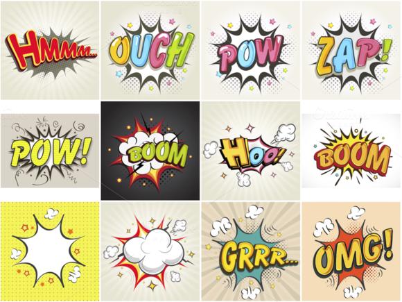 Comic Book Speech And Sound Bubbles