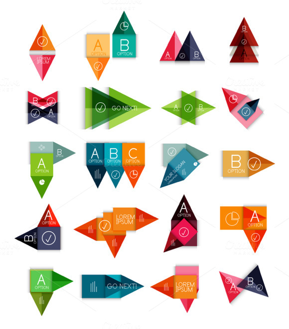 Glossy Geometrical Vector Banners