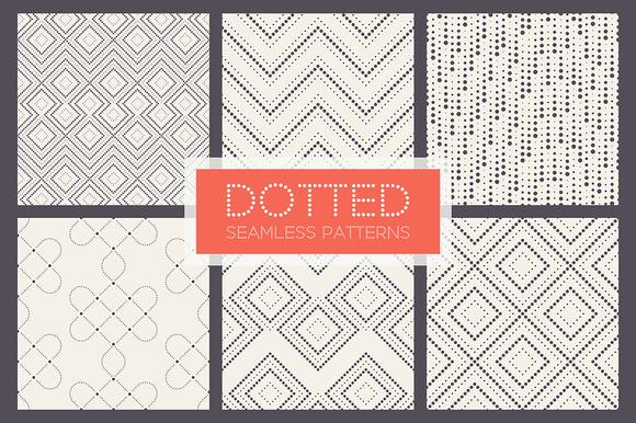 Dotted Seamless Patterns Set 2