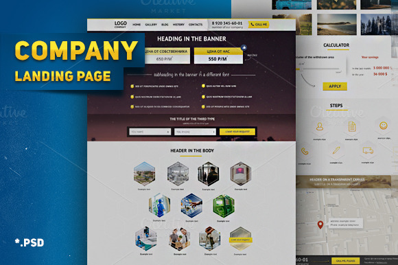 Landing Page Company Business