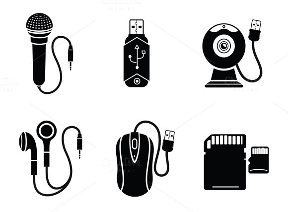 Icon Set In Black For Digital
