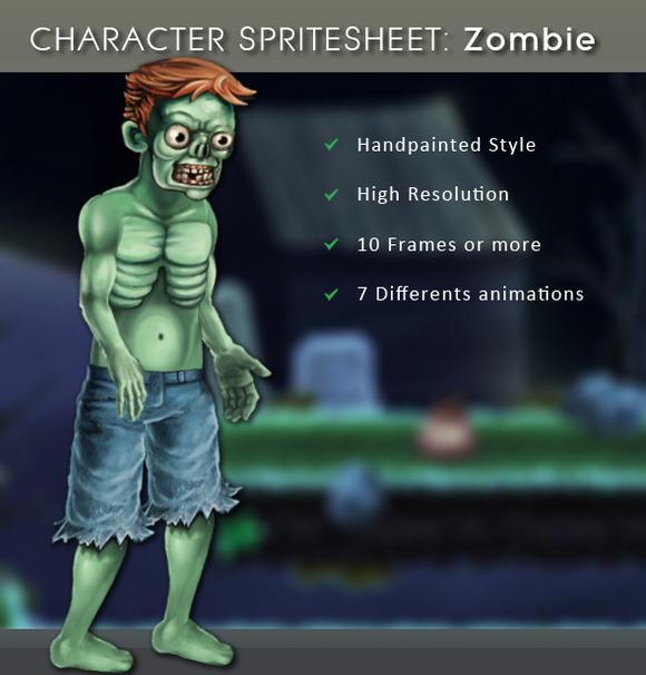 Character Spritesheet Zombie