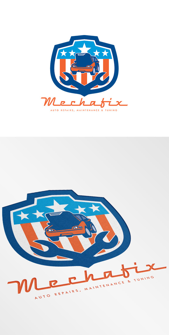Mechafix Car Auto Repairs Logo