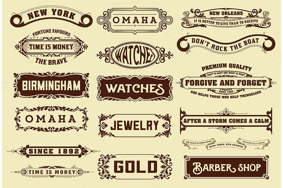 17 Labels And Banners