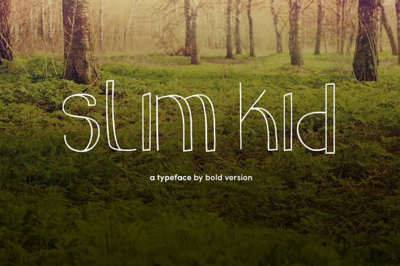 Slim Kid Typeface