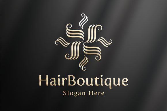 HairBoutique Luxury Logo Template
