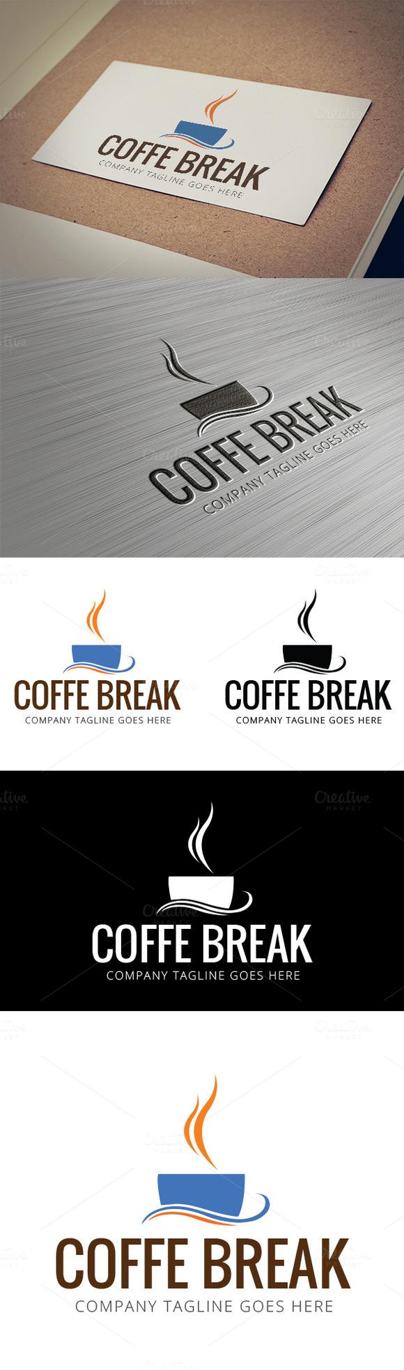 Coffee Break Logo Template
