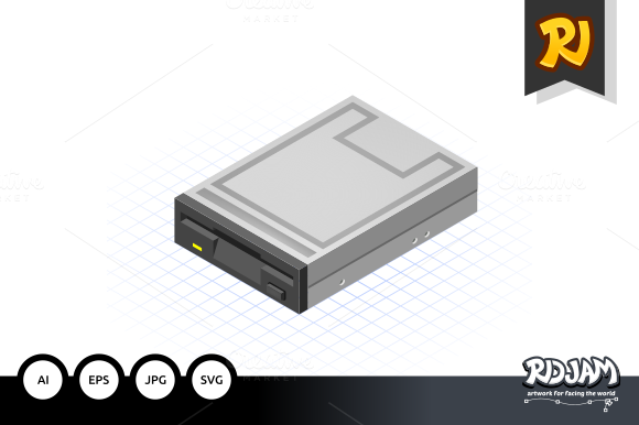 Isometric Floppy Drive