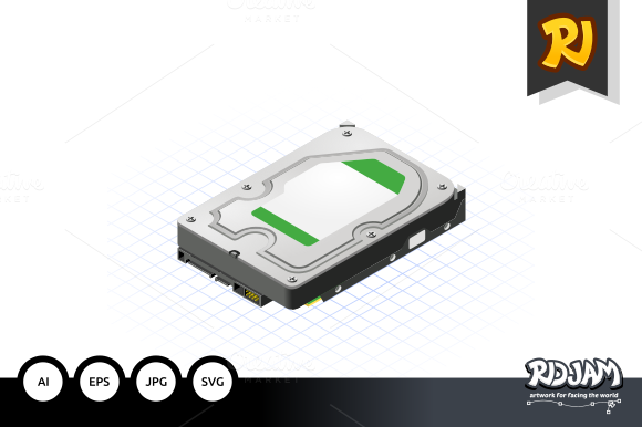 Isometric Hard Disk