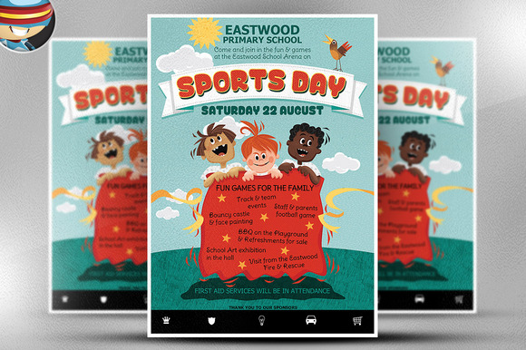 KidЎЇs Sports Day Flyer Template