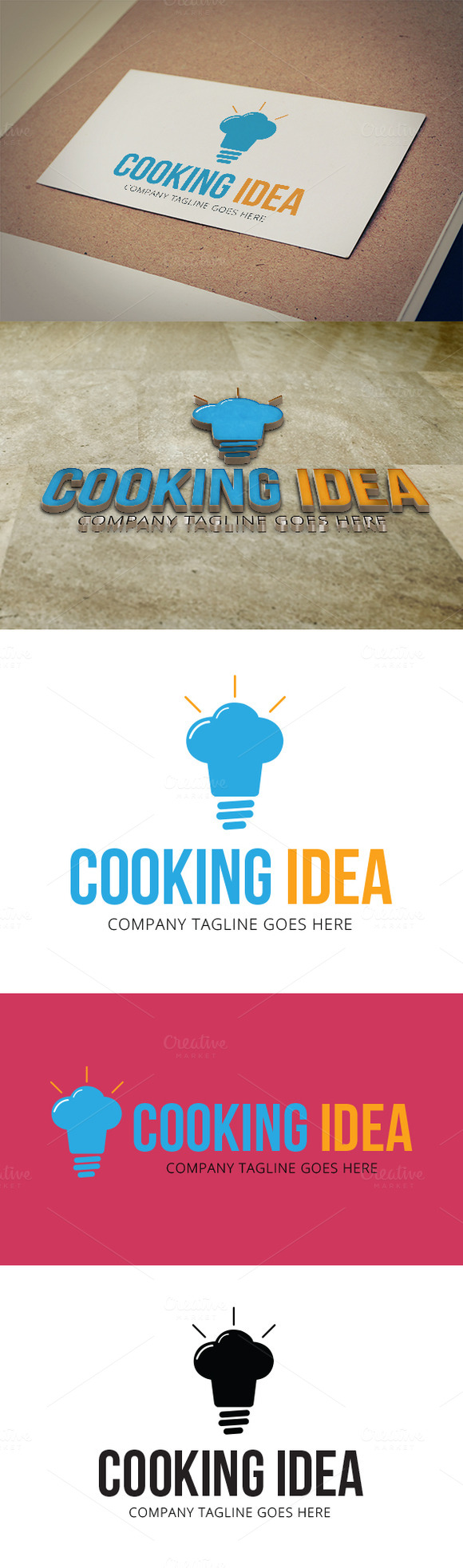 Cooking Idea Logo Template