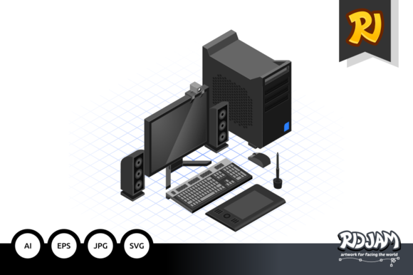 Isometric Computer Set