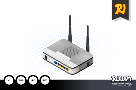 Isometric Wireless Router
