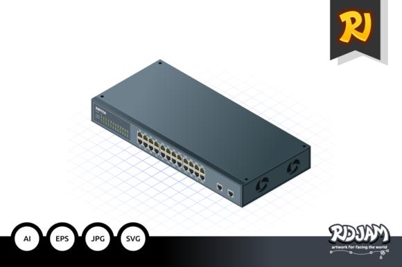 Isometric Switch With Uplink Port