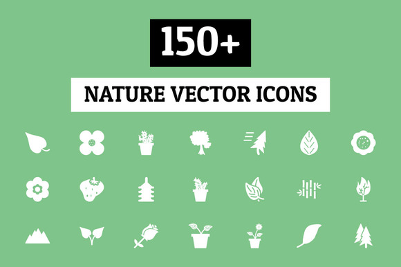 150 Nature Vector Icons