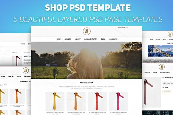 Shop PSD Template