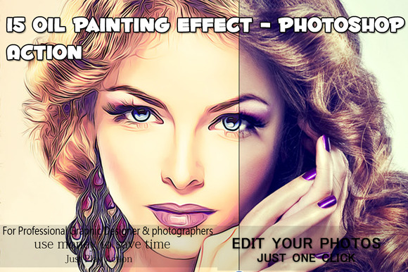 15 Oil Painting Effect Photoshop