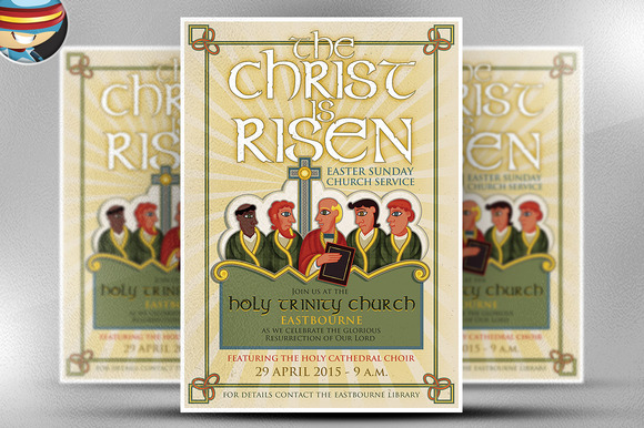 Illustrated Church Flyer Template