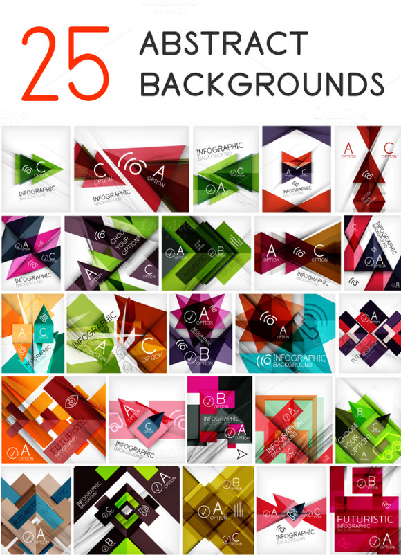 25 Geometrical Backgrounds