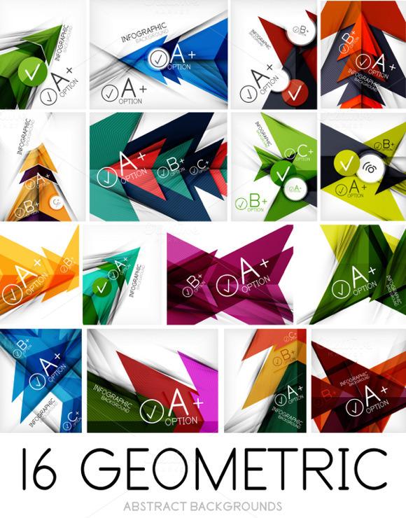 16 Geometric Banner Templates