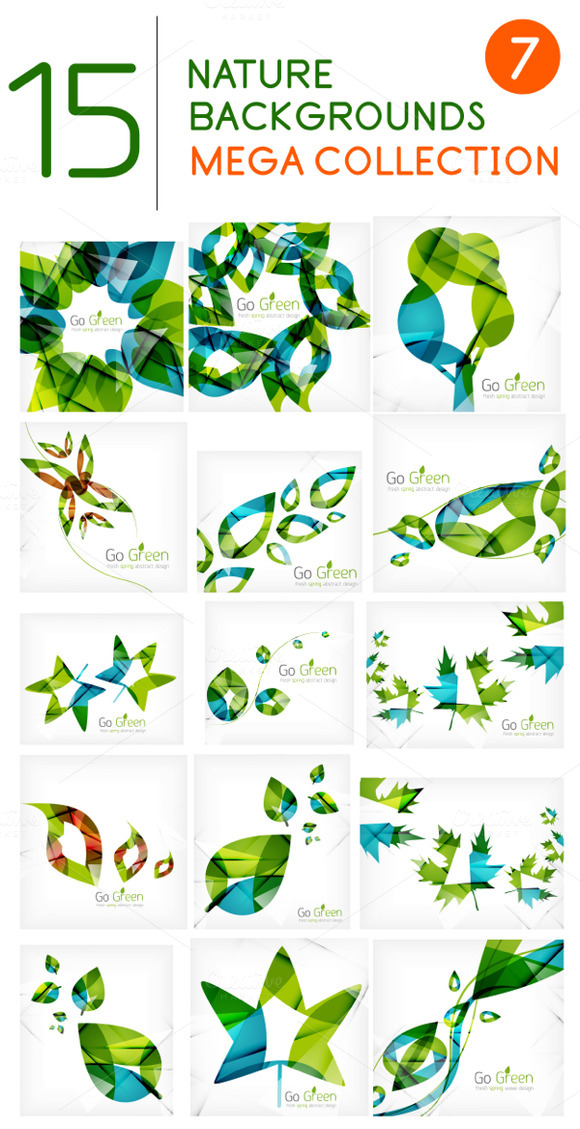 15 Nature Leaf Backgrounds