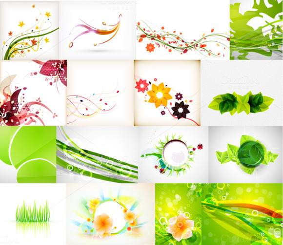 Green Nature Backgrounds Collections