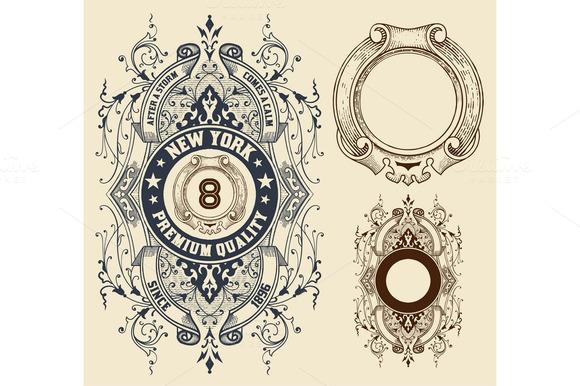 Retro Design With Elements