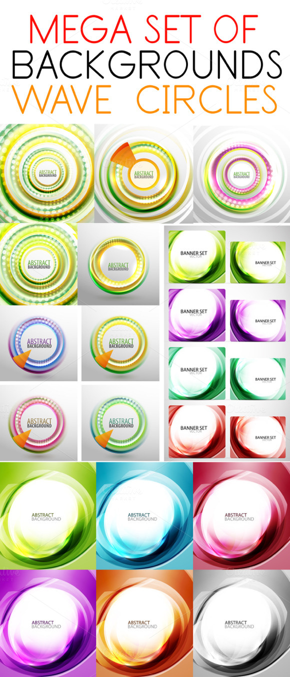 Wave Circle Backgrounds
