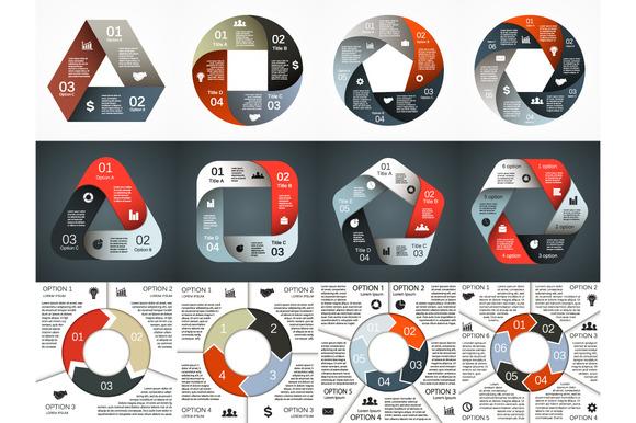 Circle Geometric Infographics