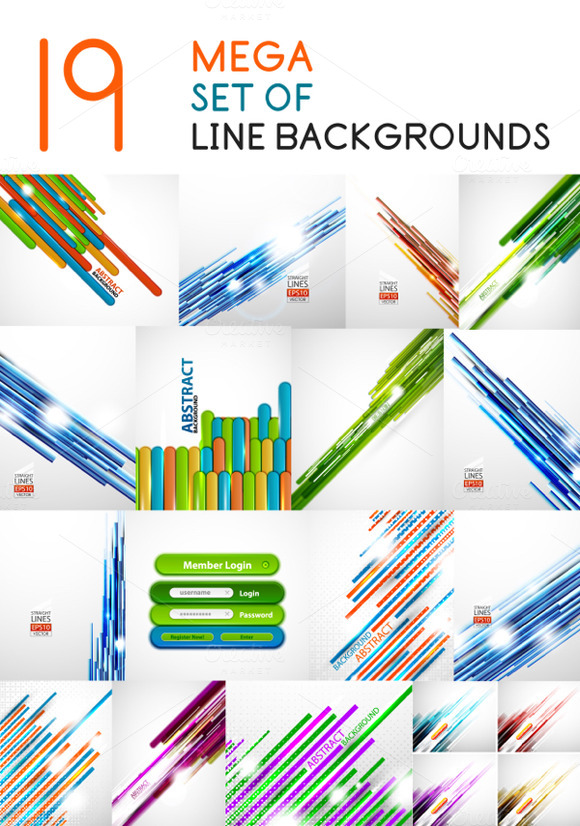 19 Mega Line Backgrounds