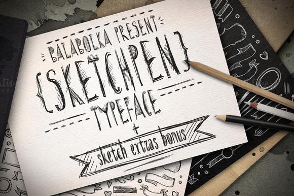 Sketchpen Typeface Extras